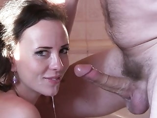 blowjob HQ brunette video cumshot