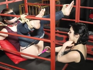 bdsm HQ bondage video brunette