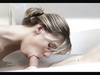 blonde HQ blowjob video cumshot